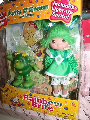 Amazing Rainbow Brite Patty O'green & Light Up Lucky Doll + Dvd Mint In Box 2003