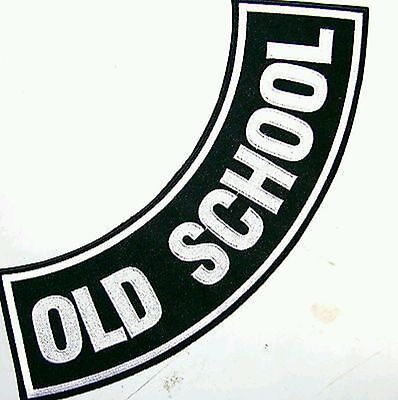 Old School Patch side Rocker Biker Motorcycle Patches for Vest Jacket size 11""