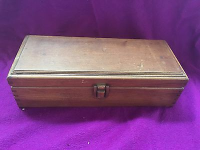 Wooden Box Wood Dividers Vintage 3 1/2 inches high, length 12.5 inches, depth  5