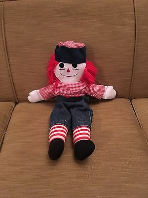 "Raggedy Andy Doll 24"" With Hat"