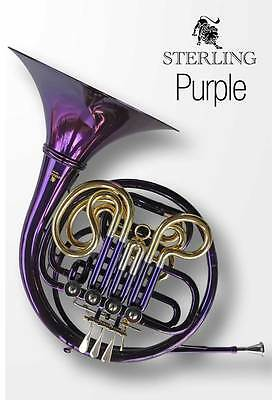 PURPLE Bb Single STERLING  FRENCH HORN With Case