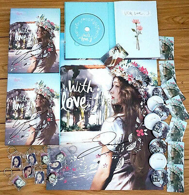 Signed Jessica Girls Generation Snsd SOLO With Love,J CD+Poster Hand Autograph