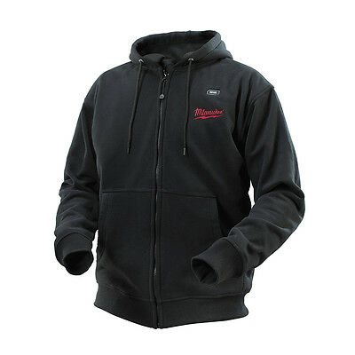 Milwaukee M12 BLACK HEATED HOODIES - Small, Medium, Large, XL, XXL Or XXXL