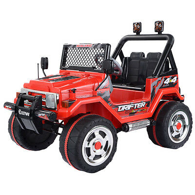 Jeep SUV Kids Ride On Car 12V Electric Battery Parental Remote Control MP3 Red