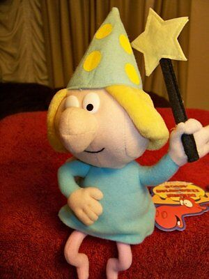 """RARE Beautiful Plush 10"""" Rocky & Bullwinkle & Friends Fractured Fairy Doll w/Tag"""