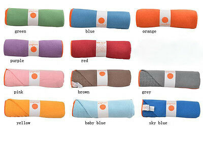 Yogitoes Skidless Yoga Mat Towel Silicon Nubs Non Slip Yoga Blankets 620g