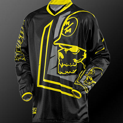 L Large Metal Mulisha Scout MX Jersey Motorbike BMX Black Yellow
