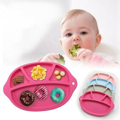 4Colors One-piece Happy Silicone Baby Kid Table Food Tray Placemat plate New