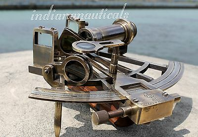 Nautical Maritime Brass Sextant Vintage Ship Astrolabe Marine Replica Gift Item