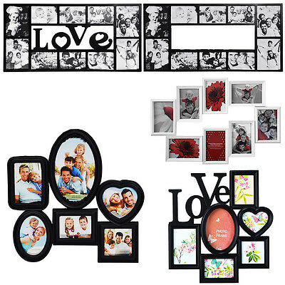 Family Love Multi Photoframe Frames Collage Picture Aperture Wall Photo Frame