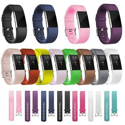 Replacement Wrist Strap Silicone Sports Watch band For Fitbit Charge 2 UU