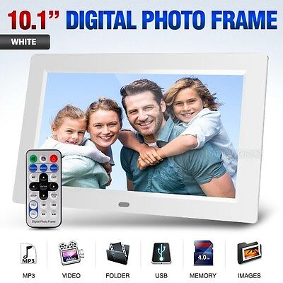 "10.1"" inch HD White TFT-LCD Alarm Clock Video MP3 MP4 Player Digital Photo Frame"