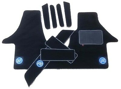 VW Transporter t6 Cab mat with side steps and pocket liners set.