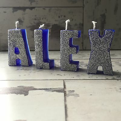 Name candles | Word candles | Birthday candles | Letter candles | Glitter