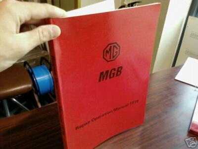 MGB Factory Workshop Manual 1978 1979 Excellent Service Technical Instruction