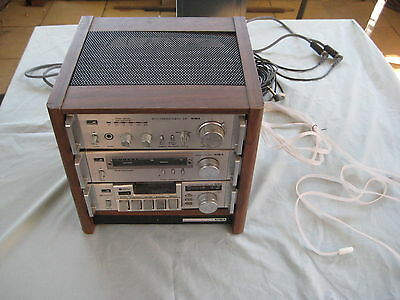 Vintage Stereo System AIWA Mini Component Rack RK - C25 Mini Compo