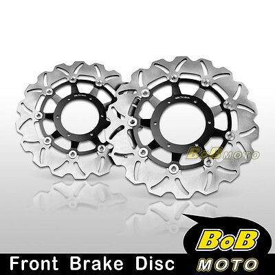 Honda CBR600RR 2003-2011 2012 2013 Front Stainless Steel Brake Disc Rotor Pair
