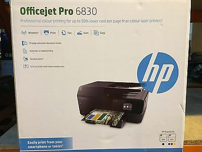 HP OfficeJet Pro 6830 All-in-One Inkjet USB Wireless Airprint Colour Printer