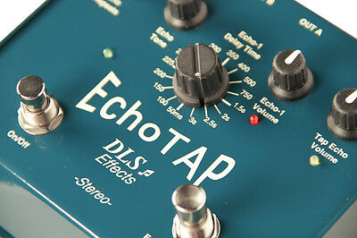 Dls Effects Echotap Echo Delay Stereo Guitar Pedal 50 Ms To 3 Sec