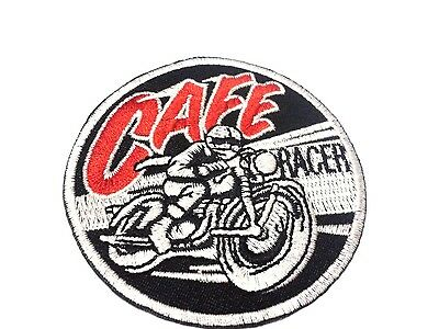 CAFE RACER Motorcycle Vintage Motor Racing Sport Classic Sew Iron On Patch Badge
