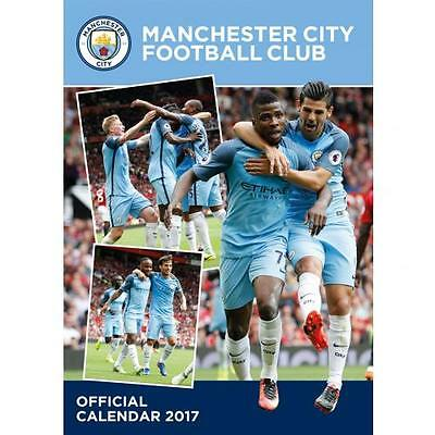Manchester City F.C. Calendar 2017 New Licensed Product Free P&P