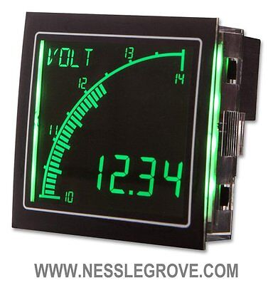 Trumeter APM-VOLT-ANO 72 x 72 Voltmeter Negative LCD with output.