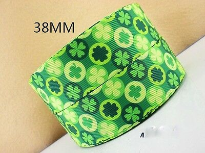 1 Metre Four Leaf Clover Ribbon Perfect For St Patricks Day Bow Ireland 1.5 Inch