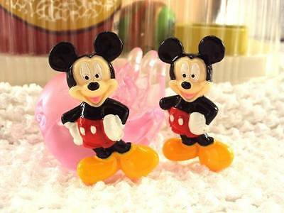5x 32MM MICKEY MOUSE FLAT BACK RESIN EMBELLISHMENTS HEADBANDS BOWS CARD MAKING