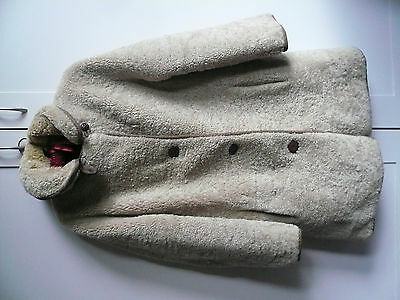 Vintage Curly Sheepskin Shearling Jacket Szie 14