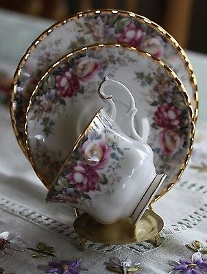 Royal Albert Autumn Roses Trio -Cup, Saucer and Plate