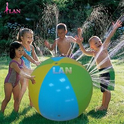 Outdoor Swimming Beach Ball Inflatable Ball Water Spray Fountain Game Toy