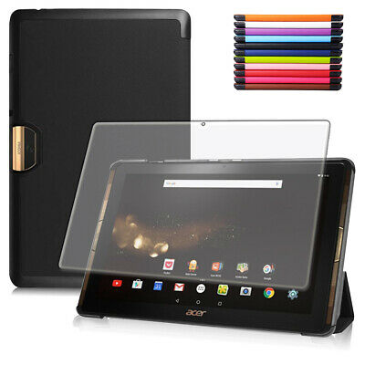 Smart Cover + Schutz Folie Acer Iconia One Tab 10 (A3-A40) Hülle Tasche +Pen-3