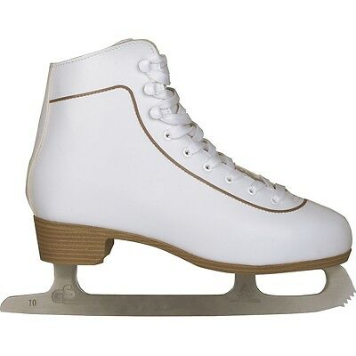 Nijdam Women Figure Skates Ice Skating Boots Classic Leather Size 41 0043-WIT-41