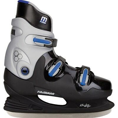 Nijdam Ice Hockey Skates Boots Shoes Unisex Blades Sharpened Size 45 0089-ZZB-45