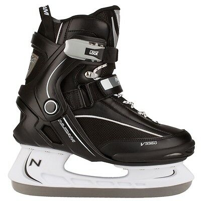 Nijdam Ice Hockey Skates Boots Shoes Unisex Blades Sharpened Size 40 3350-ZWW-40