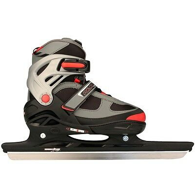 Nijdam Speed Ice Skates Boots Shoes with Blades Unisex Size 31-34 3414-ZAR-31-34