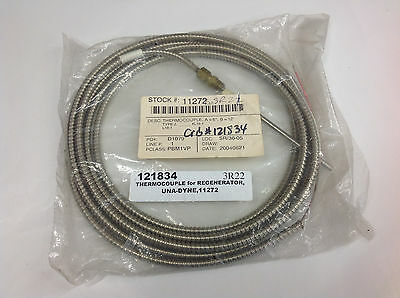 "Una Dyne 11272 Regenerator Thermocouple Type J, Tip=6"", Lead=12', #L18-1  NEW"