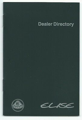 New lotus elise series 1 S1 dealer directory book