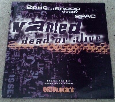 "2Pac Wanted Dead Or Alive Snoop Doggy Dogg (Tupac) Original Death Row 12"" Vinyl"