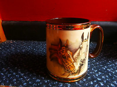 Horse Racing Tankard By Gibson A Taunton Vale Pottery Company