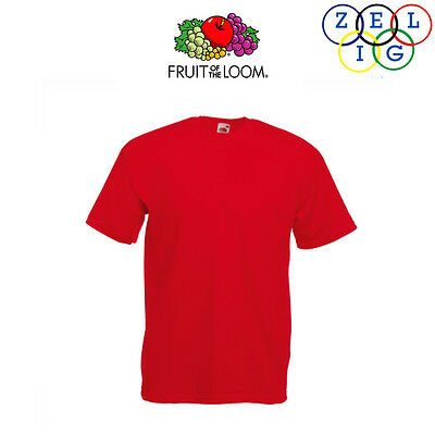 Fruit Of The Loom T-Shirt 610980 Maglietta Manica Corta Rosso