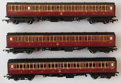 Triang Hornby OO lot of 3x LMS Maroon coaches - CR Caledonian type