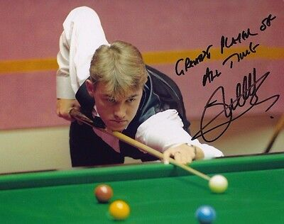 "Stephen Hendry Autograph Signed 10"" X 8 "" Photo (& Very Rare Message Snooker )"