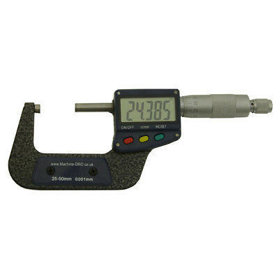 "25-50mm/ 1-2"" Micrometer Digital External Outside Mic Large Display Machine-DRO"