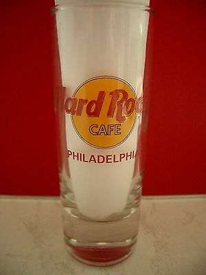 HRC Hard Rock Cafe Philadelphia Classic Logo Red Letter Shot Glass Schnapsglas