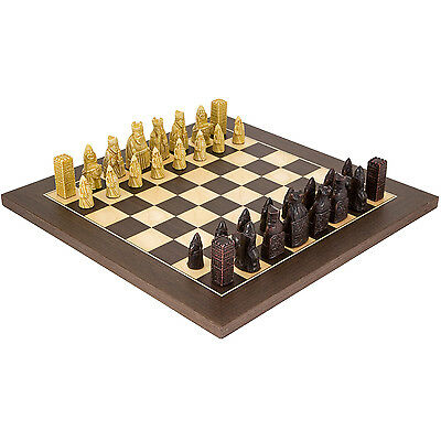 Isle Of Lewis Compact Wenge Chess Set with 2.5 inch king RCPB150