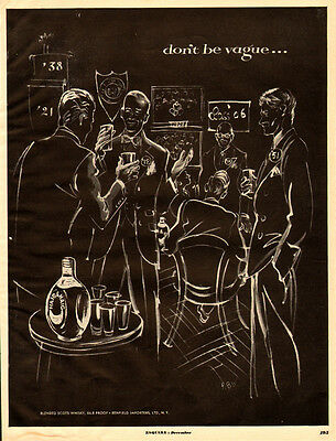 1952 vintage Ad, HAIG and HAIG, bended Scotch Whiskey, great art!.  091913