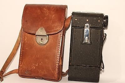 Kershaw Eight-20 Penguin Folding Roll Film Camera C1946 + Case Good Cond (Used)