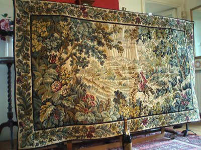 "A Stunning French Heavy Wool, Vedure Style Wall Hanging/Tapestry(78.75"" x 45"")"