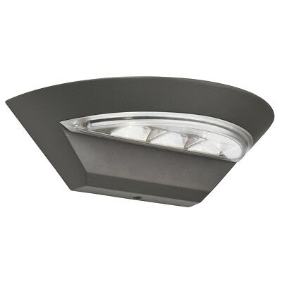 Searchlight 5122GY IP44 Grey LED Semi-Circle Outdoor Wall Light